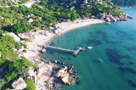 """""""Ốc đảo trái tim"""" nằm ở khu sinh thái Sao Biển, thuộc bán đảo Bình Lập, thành phố Cam Ranh, tỉnh Khánh Hòa (Ảnh Internet)"""