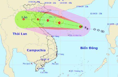 Dự báo đường đi của bão số 7 – Ảnh: Trung tâm Dự báo khí tượng thủy văn quốc gia