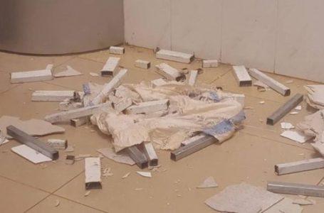sập trần nhà bệnh viện