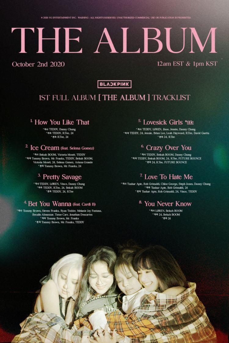 tracklist album blackpink