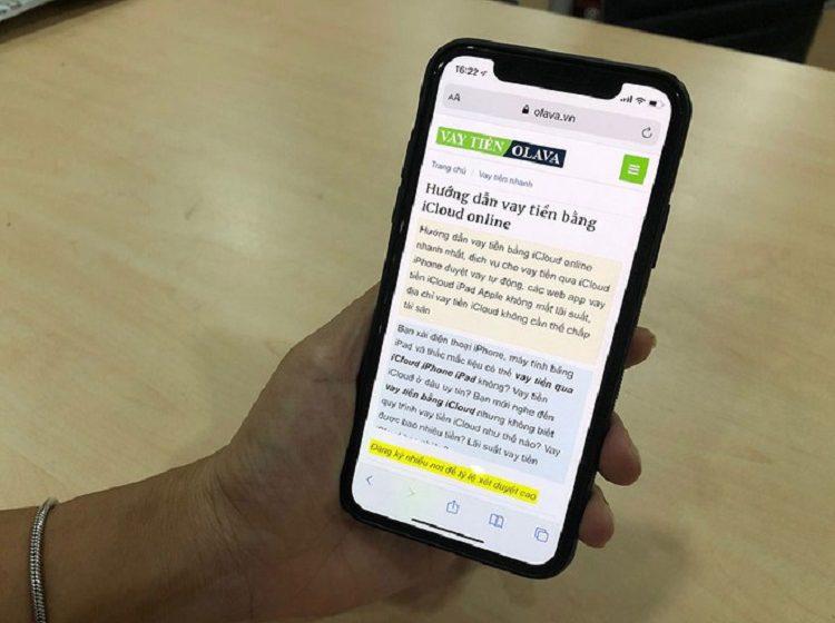 Cảnh báo: Lại nở rộ cho vay tiền qua mạng bằng iCloud