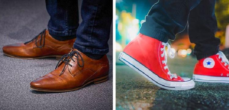 Hiệu ứng giày converse đỏ