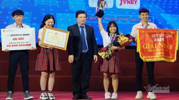 'Ống hút từ hạt bơ' của học trò Đắk Lắk giành giải Nhất SV-STARTUP 2020