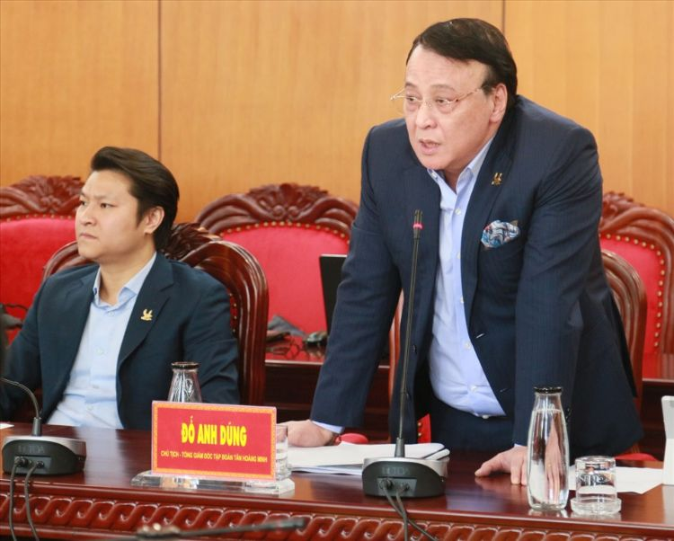 Lãnh đạo Tập đoàn Tân Hoàng Minh