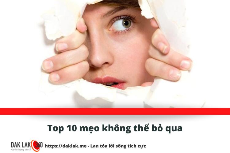 Top 10 mẹo không thể bỏ qua