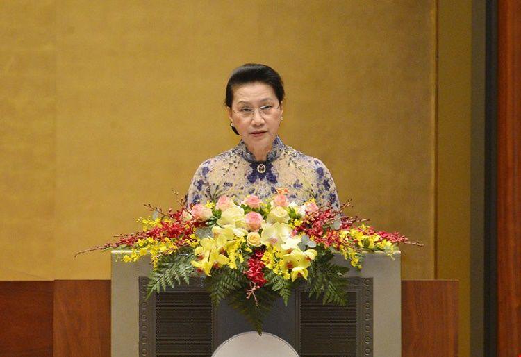Quốc hội tiến hành miễn nhiệm Chủ tịch Quốc hội Nguyễn Thị Kim Ngân