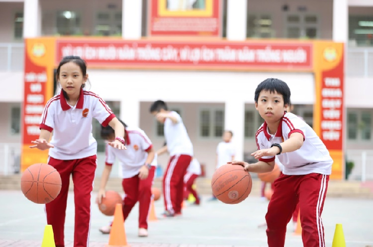 học sinh Trường tiểu học Lý Thái Tổ