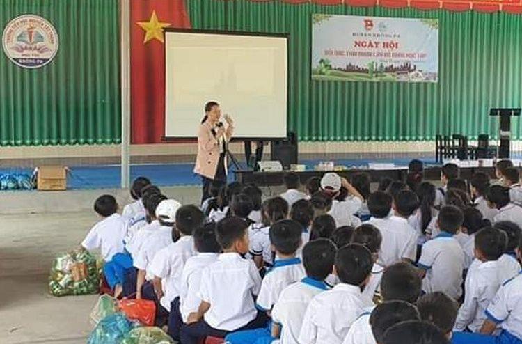 """Gia Lai: 280 học sinh tại Krông Pa tham gia ngày hội """"Đổi rác thải nhựa-Lấy đồ dùng học tập"""""""