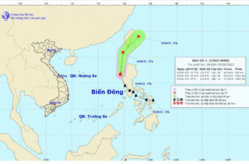 Biển Đông đón bão số 1