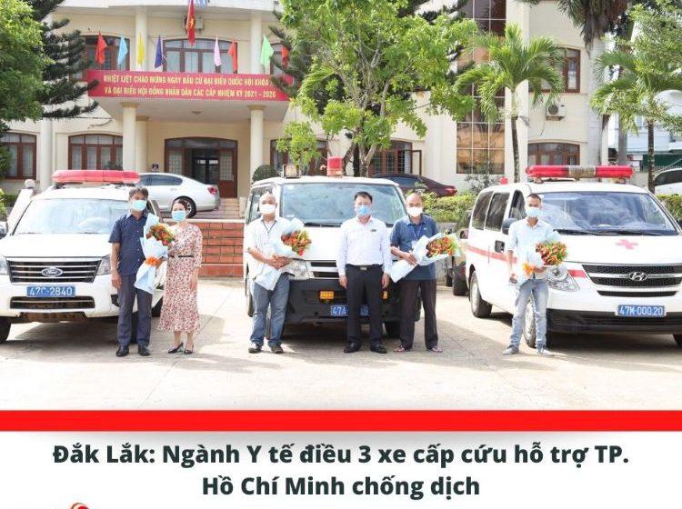 Ngành Y tế điều 3 xe cấp cứu hỗ trợ TP. Hồ Chí Minh chống dịch