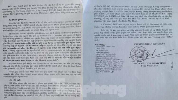 Báo cáo số 07 do ông Trần Vĩnh Cảnh ký
