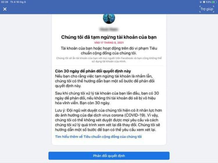 hàng loạt tài khoản facebook bị khóa