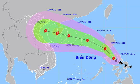 Bão Conson áp sát Biển Đông, đất liền mưa diện rộng
