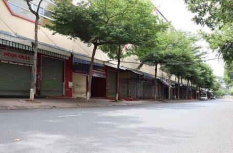Các cơ sở kinh doanh trên địa bàn thành phố Buôn Ma Thuột đóng cửa trong thời gian thành phố thực hiện Chỉ thị 16 của Thủ tướng Chính phủ. (Ảnh minh họa).