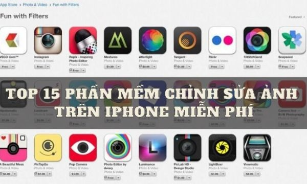 Top 10 Phần Mềm Chỉnh Sửa Ảnh Trên iPhone Miễn Phí